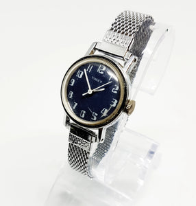 Blue Dial Mechanical Timex Watch | Limited Edition Vintage Watches - Vintage Radar