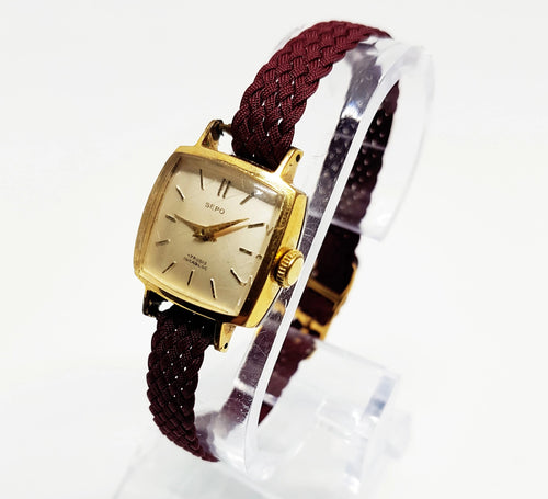 SEPO 17 Rubis Square Mechanical Watch For Women | Vintage Watch Collection - Vintage Radar