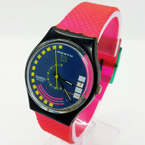 1989 TRAFFIC JAM GB412 Vintage Swiss Swatch Watch | Rare 80s Swatch Watch - Vintage Radar