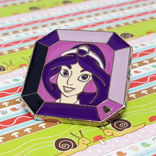 Jasmine Princess Enamel Pin | Aladdin Disney Lapel Pin - Vintage Radar
