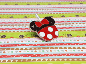 Minnie Mouse Disney Enamel Pin | Hidden Mickey Collection - Vintage Radar
