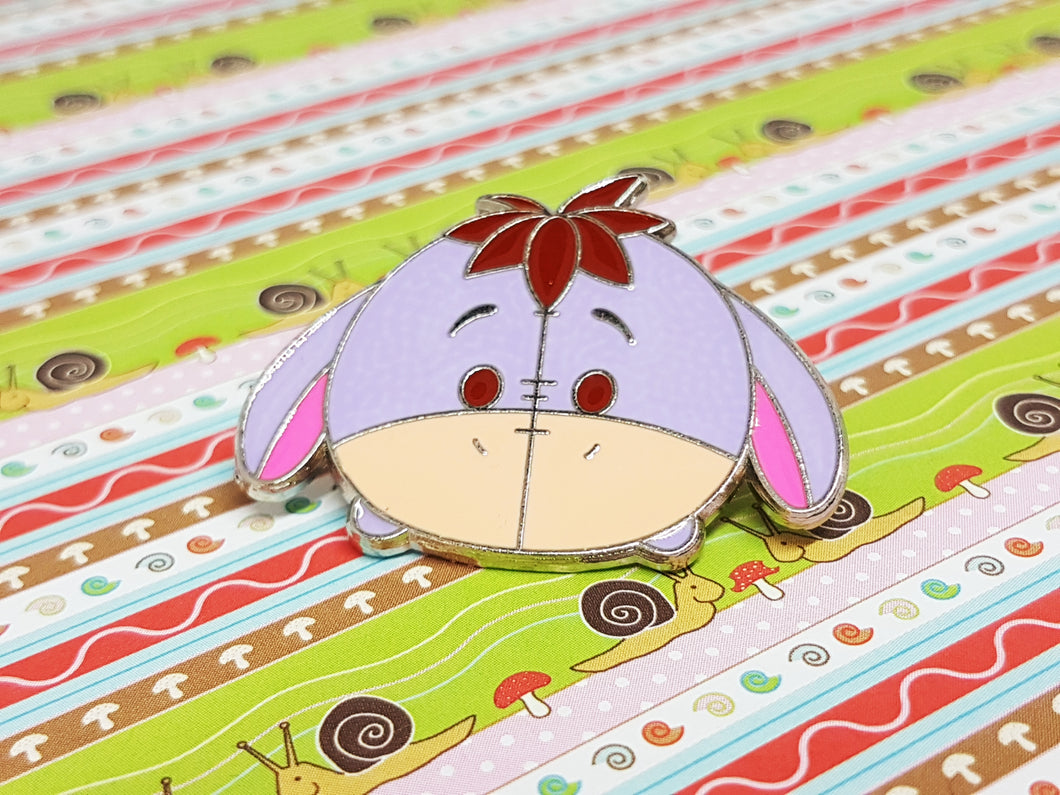 Winnie the Pooh Eeyore Enamel Pin | Tsum Tsum Pin Collection - Vintage Radar