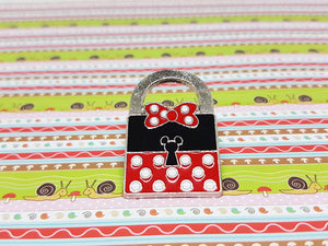 Padlock Minnie Mouse Enamel Pin | Disney Lapel Pin - Vintage Radar