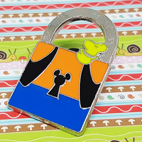 Padlock Goofy Dog Enamel Pin | Hidden Mickey Collection - Vintage Radar