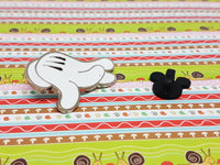 Mickey Mouse Glove Enamel Pin | Mickey Mouse Left Hand Disney Lapel Pin