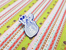 Load image into Gallery viewer, Old-school Mickey Mouse with Suitcase Pin | Disney Enamel Pin - Vintage Radar