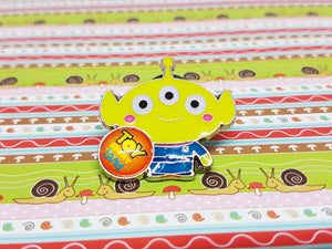 Toy Story Alien Enamel Pin | Disney Lapel Pin - Vintage Radar