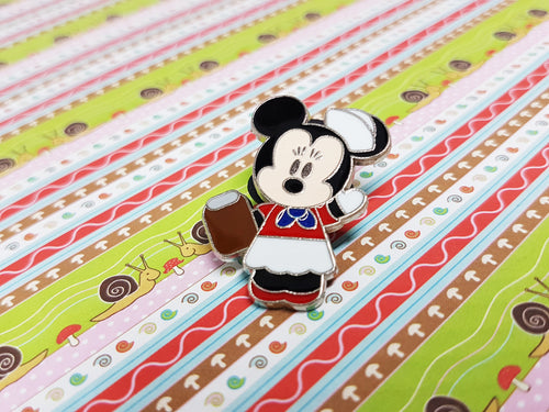 Pin feliz del esmalte de Minnie Mouse | Pin de solapa Disney - Radar vintage