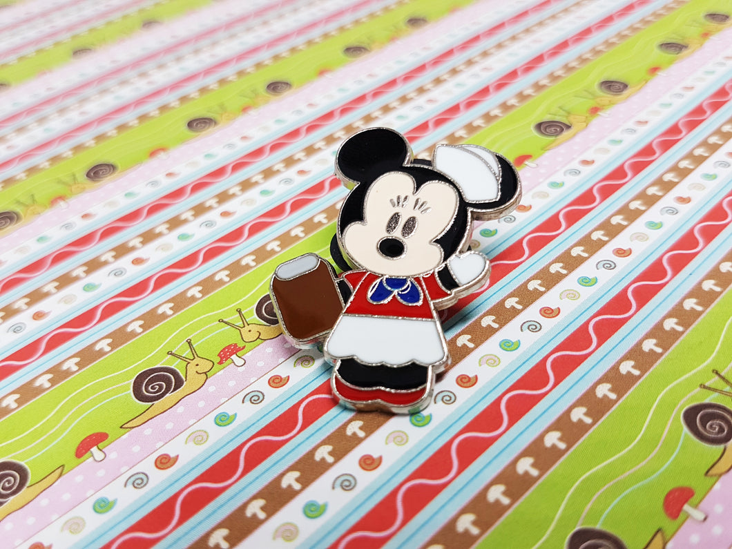 Happy Minnie Mouse Enamel Pin | Disney Lapel Pin - Vintage Radar