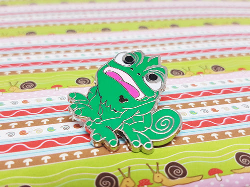 Green Frog Enamel Pin | Disney Lapel Pin - Vintage Radar