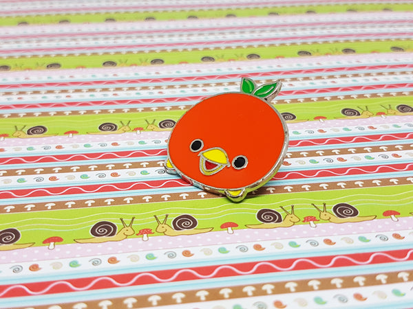 Orange Bird Enamel Pin | Disney Tsum Tsum Pin - Vintage Radar