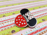Minnie Mouse Polkadot Lapel Pin | Disney Enamel Pin - Vintage Radar
