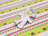 Pink Teddy Bear Enamel Pin |  Disney Lapel Pin - Vintage Radar