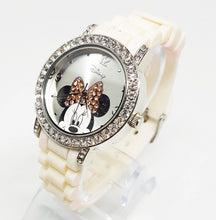 Load image into Gallery viewer, Minnie Mouse Disney Watch Women | Silver Diamond Ladies Watch - Vintage Radar