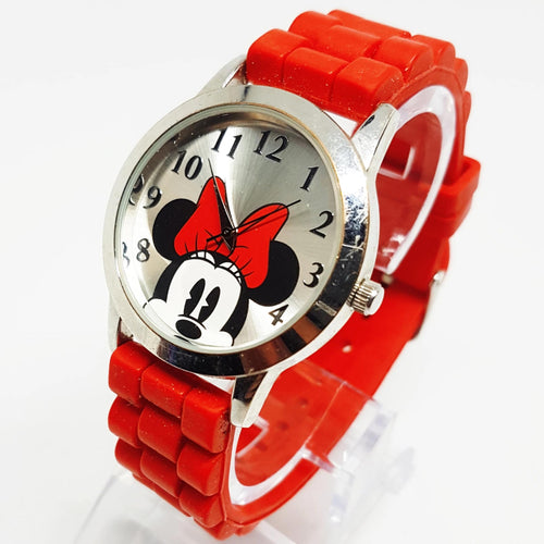Reloj rojo Disney Minnie Mouse Vintage | Reloj Walt Disney World - Radar Vintage