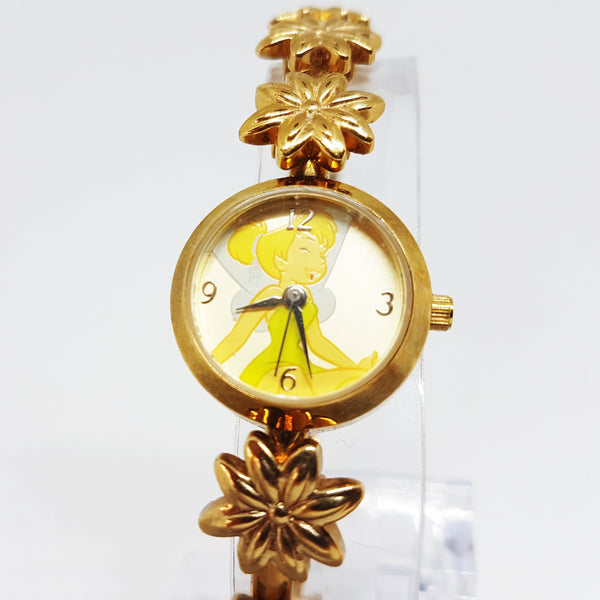 Luxury Tinker Bell Fairy Seiko Watch | Gold-Tone Disney Watch - Vintage Radar