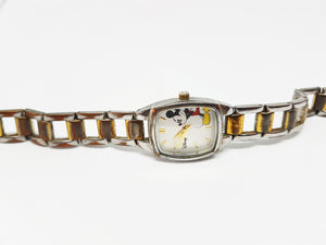 Two-tone Mickey Mouse Disney Watch | Elegant Watch For Women - Vintage Radar