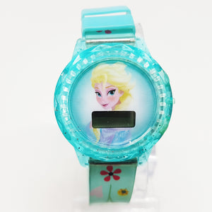 Elsa Disney Princess Watch | Blue Frozen Watch For Her - Vintage Radar