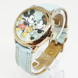 Seiko Mickey and Minnie Mouse Vintage Watch  | Pale Blue Disney Watch - Vintage Radar