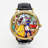 Beauty And The Beast Luxury Gift Watch | Vintage Disney Watch Collection - Vintage Radar