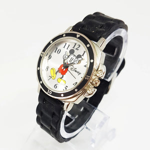 Vintage Mens Disney Watch | Mickey Mouse Silver-Tone Watch - Vintage Radar