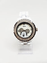 Load image into Gallery viewer, Elegant White Mickey Mouse Watch | Disney Rhinestones Watch - Vintage Radar