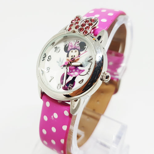 Reloj de ratón rosa Minnie Disney Vintage Watch - Vintage Radar