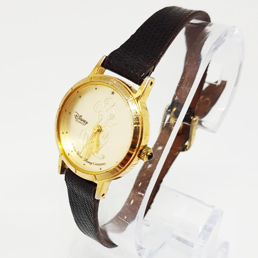 Lorus Mickey Mouse Watch | Gold-Tone Disney Watch For Men - Vintage Radar