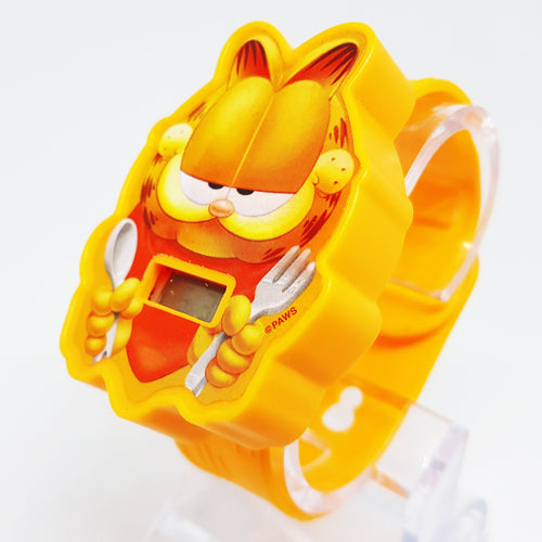 Garfield Digital Watch | Orange Cat LCD Watch for Him or Her - Vintage Radar