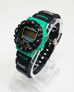 Sports Alarm Chronograph Watch | LCD Digital Sportswatch - Vintage Radar
