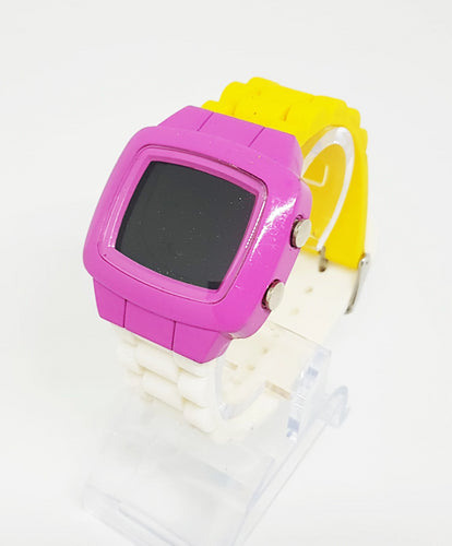 Geneva Platinum Digital Watch | Colorful LCD Unisex Watch - Vintage Radar