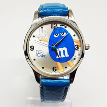 Load image into Gallery viewer, Blue M&Ms Candy Watch | Silver-tone Quartz Watch for Men or Women - Vintage Radar
