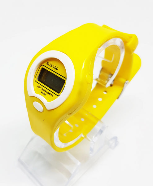 Yellow LCD Digital Watch | Electro Watch for Women or Men - Vintage Radar