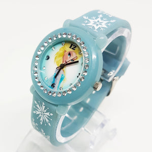 Disney Elsa Watch | Pale Blue Frozen Movie Inspired Watch - Vintage Radar