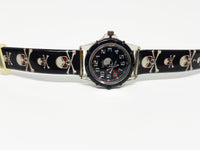 Black Skull Quartz Watch | Dark Gothic Watch for Women - Vintage Radar