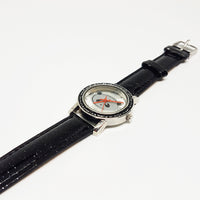 Panda Bear Silver-tone Watch | Vintage Accutime Watch for Him or Her