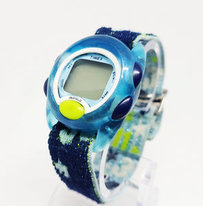 Blue Timex Digital Sports Watch | Timex Indiglo Multiple Functions - Vintage Radar