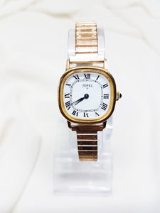 Jopel Womens Square Gold-tone Watch, Mechanical French Watches for Women - Vintage Radar