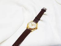 Minimalist cocktail Watch for Women, Amy Gold-tone Watch - Vintage Radar