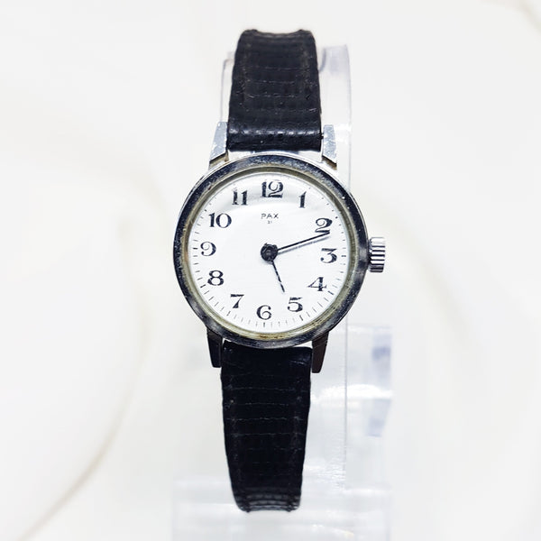 Pax 31 Rare Silver Ladies French Watch, Vintage Wedding Watch for Women - Vintage Radar
