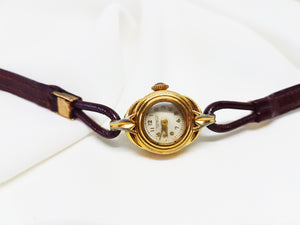 Bonnefoy coutances Ladies very thin gold watch, Rare small watch for women - Vintage Radar