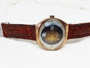 Rieser Mechanical mens watch, Large dial oval watch - Vintage Radar