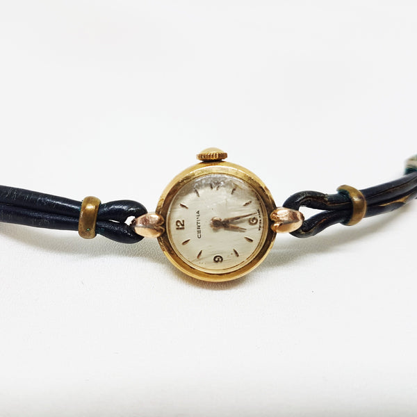 Certina Tiny Gold-plated Ladies Watch | Art Deco Women's Watch - Vintage Radar