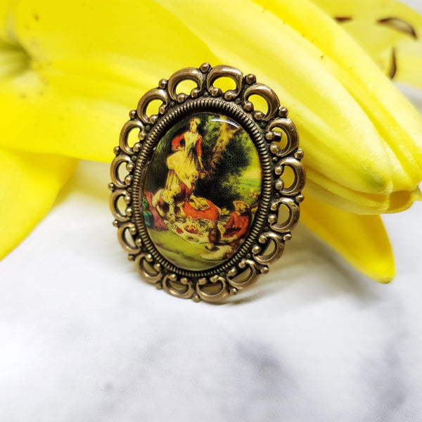 Renaissance Style Vintage Brooch, Antique Jewelry Piece - Vintage Radar