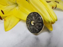 Load image into Gallery viewer, Viking Geometric Brooch, Antique Silver-tone Jewelry Piece - Vintage Radar