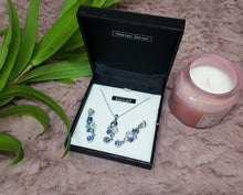 Load image into Gallery viewer, Vintage Silver Necklace and Earrings Set with Swarovski Crystals - Vintage Radar