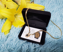 Load image into Gallery viewer, Vintage Gold Plated Necklace with Authentic Sapphire Stone - Vintage Radar