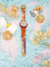 Load image into Gallery viewer, 1990 RAVENNA GR107 Swatch Watch | Colorful Mosaic Vintage Swatch - Vintage Radar