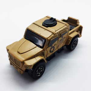 Matchbox MBX Toy Truck Mb888 | Beige Military Extreme Truck Mattel Army Toy Truck - Vintage Radar