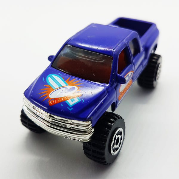 1999 Chevrolet Silverado Matchbox Toy Car | 4X4 Die-Cast Miniature Pickup Truck - Vintage Radar